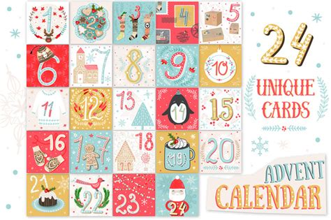 free printable advent calendar template printable advent calendar illustrations on