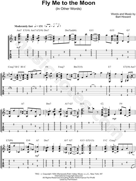 Fly Me To The Moon Guitar Chords