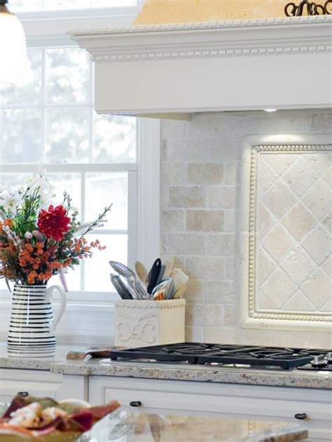 Tumbled Marble Kitchen Backsplash Tumbled Marble Backsplash Houzz