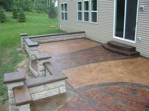 Raised Sted Concrete Patio by Raised Sted Concrete Patio Outdoor Spaces
