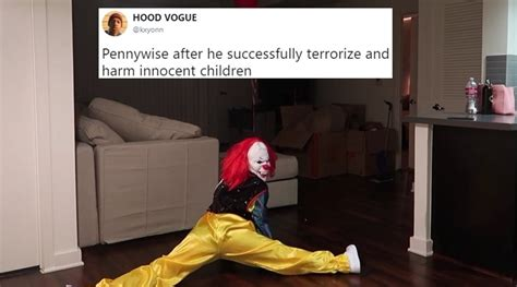 it meme pennywise from it has become a hilarious meme thanks to