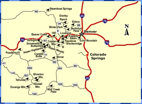 ski resorts near colorado springs map explore amerika ski resorts