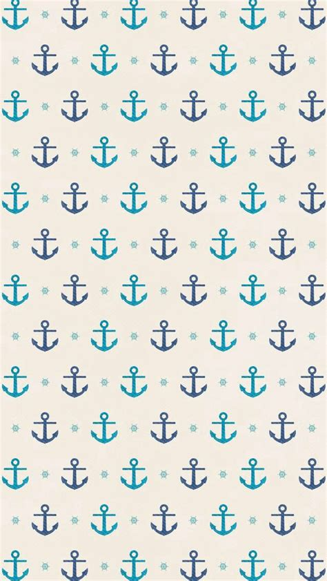 anchor pattern tumblr cute background backgrounds pinterest iphone