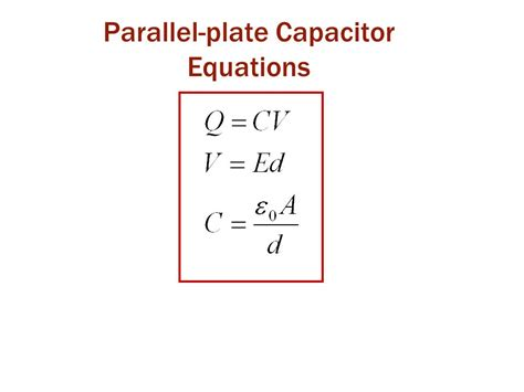 capacitor circuit equations equation for capacitance of a parallel plate capacitor 28 images parallel plate capacitor