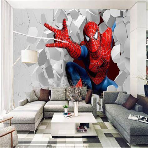 spiderman wallpaper for bedroom photo wallpaper 3d painting cartoon child living room
