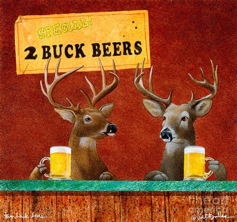 about quot drinking and beer quot metal painting vintage tin two buck beers painting by will bullas
