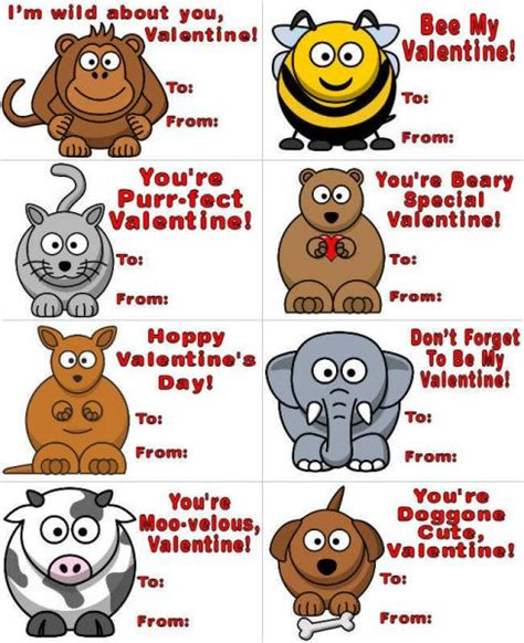 printable valentine animal crafts gadget info for you free printable valentines day cards