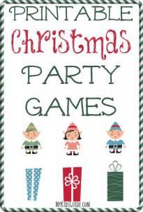 printable christmas party games for kids my kids guide