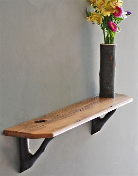 wood brackets for shelves rustic barn wood shelf