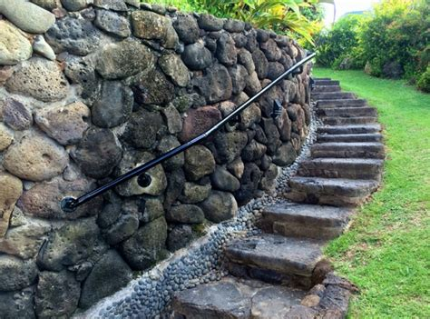 how to attach banister to wall archive how to install a step handrail adding railing to a stone wall