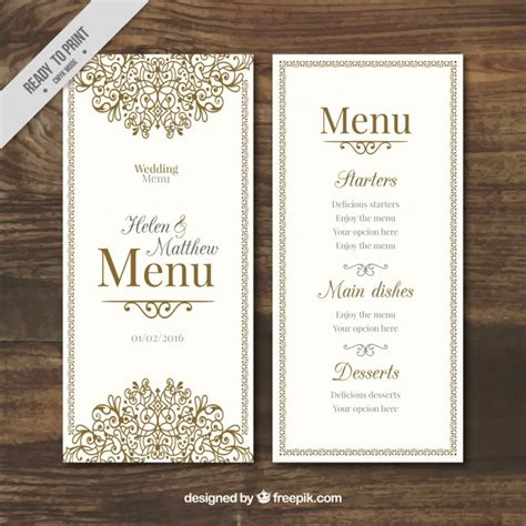free printable menu cards templates 20 free premium wedding menu templates psd graphic cloud