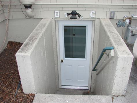 exterior basement entrance doors