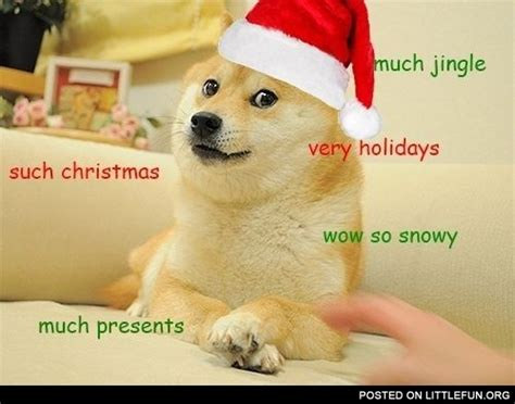 Doge Meme Christmas - littlefun much jingle such christmas doge