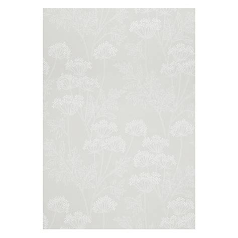 grey wallpaper john lewis buy john lewis cow parsley wallpaper grey john lewis