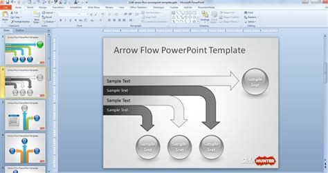 download layout powerpoint 2010 free arrow flow powerpoint template