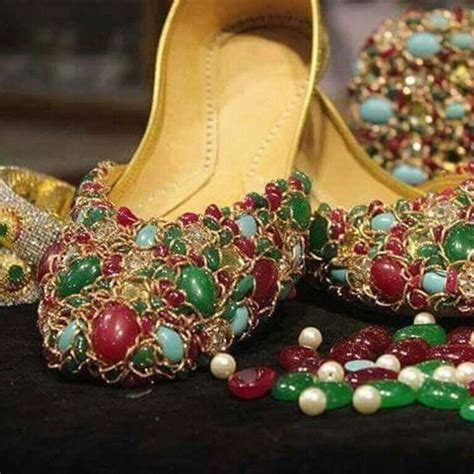 Dasi Pearl Flat Shoes studded khussa s footwear