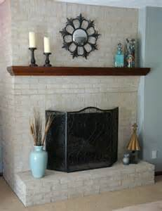 painting brick fireplace for look and feel brick