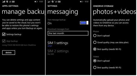 backup mobile how to backup on windows 10 mobile tutorial
