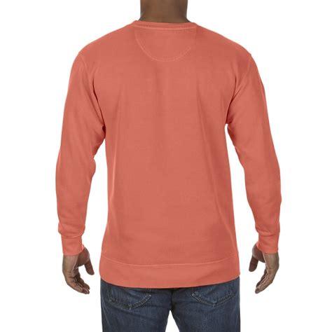 bright salmon comfort colors cc1566 comfort colors crewneck sweatshirt bright