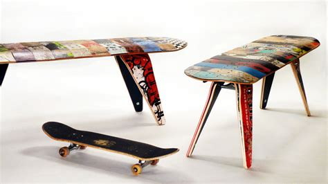 skateboard furniture let s stay recycled skateboard furniture ideas