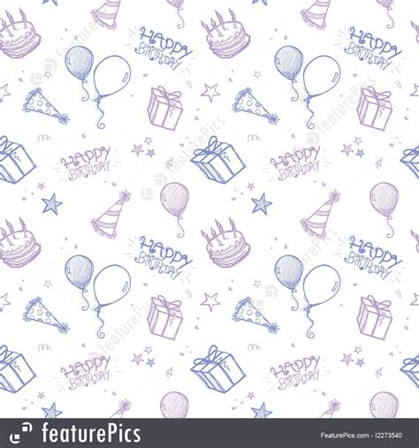 birthday pattern pink vector seamless birthday background