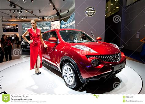 red nissan sports car red jeep car nissan juke editorial stock photo image