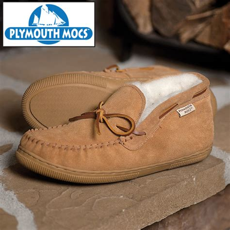 plymouth mocs mens boot slippers heartland america plymouth mocs mens chukka slippers