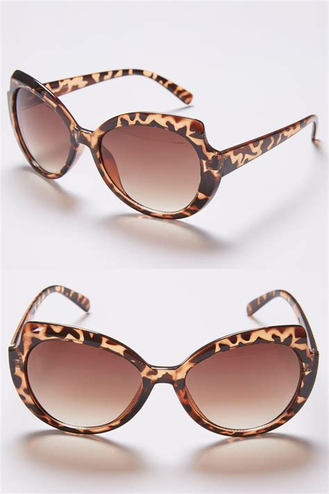 add background image to div brown animal print rounded sunglasses with uv 400 protection