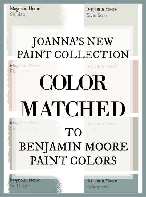 fixer s joanna gaines has a new paint line and this site has color matched every color