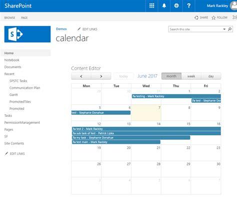Calendar Sharepoint Using Fullcalendar Io To Create Custom Calendars In