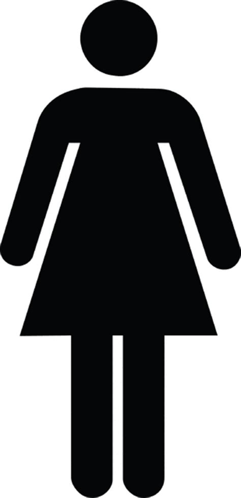 womens room rest room silhouette clipart etc