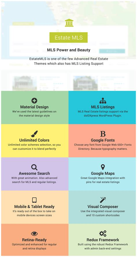 themeforest material design estatemls material design real estate mls theme