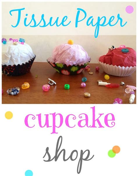 How To Make Paper Cupcakes - tissue paper cupcake shop