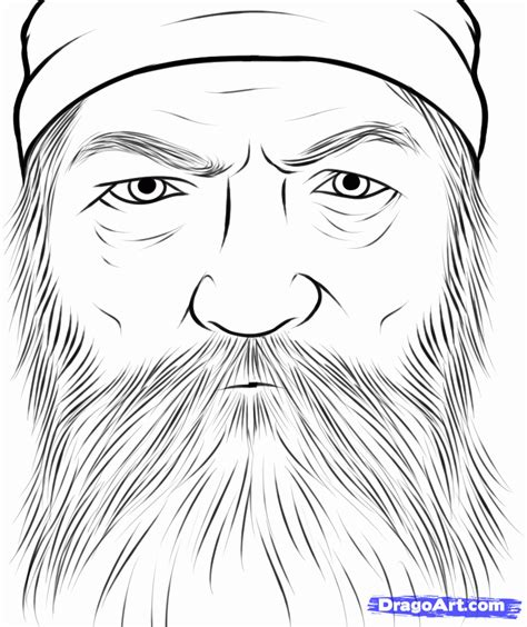 coloring pages of duck dynasty how to draw phil robertson duck dynasty phil robertson