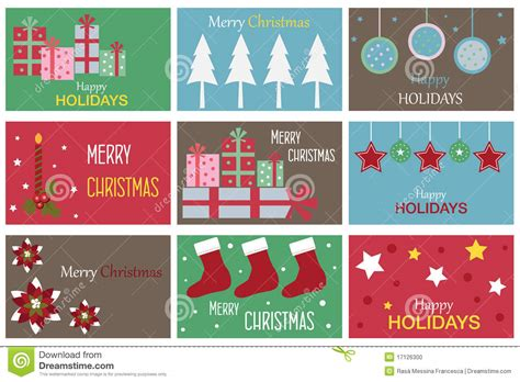 christmas gift cards stock vector image of cute element