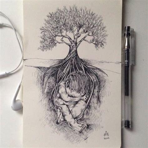 surreal black ink illustrations  alfred basha designwrld