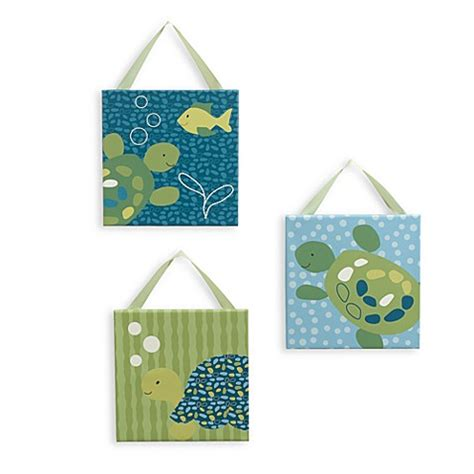 Cocalo Turtle Reef Crib Bedding Cocalo Baby 174 Turtle Reef 3 Canvas Wall Bed Bath Beyond