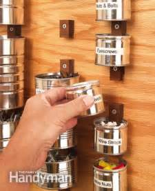 Garage Nuts And Bolts Storage Ideas Savvy Home Tool Storage The Family Handyman