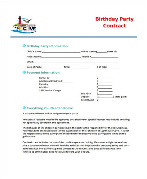 event planner agreement template 5 planner contract templates free sle exle