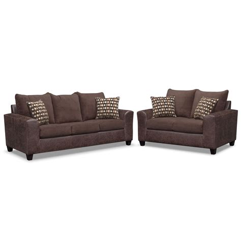 brando memory foam sleeper sofa and loveseat set