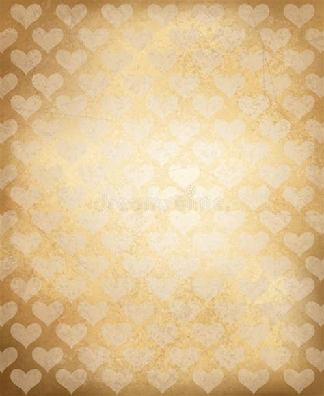 old paper pattern vector vector old paper texture with heart pattern stock vector