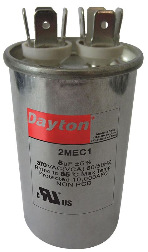 capacitor rating voltage dayton motor run capacitor 20 microfarad rating 370vac voltage 2mec7 motors