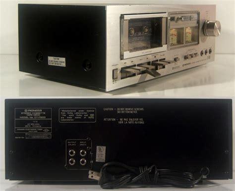 pioneer tv deck pioneer cassette deck model ct f500