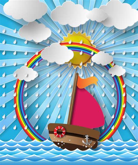 cartoon boat vector free sailing boat with marine cartoon vectors free vector in