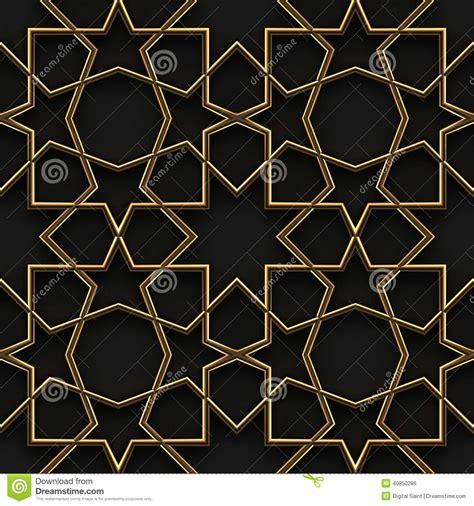islamic pattern gold islamic pattern black and gold seamless stock