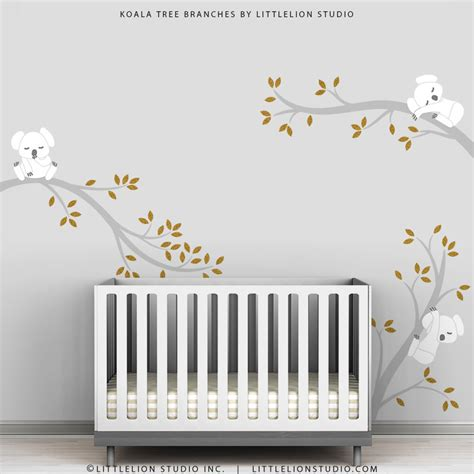 Modern Nursery Wall Decor Gold Wall Decal Baby Chic Classic Modern Room Decor