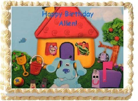 blues clues edible image cake topper birthday cake personalized freeamazongrocery gourmet