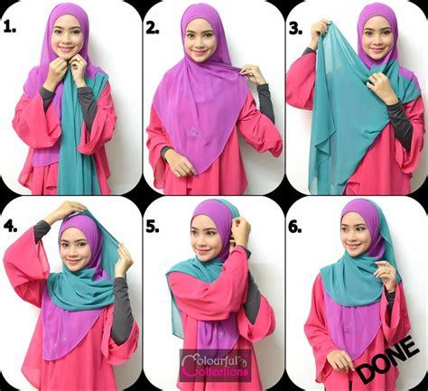 cara memakai jilbab terlengkap dan mudah terbaru 2015 cara mudah memakai jilbab segi tiga terbaru
