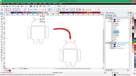 membuat logo di android membuat logo android di coreldraw d art