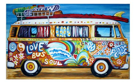 volkswagen bus art volkswagen art vw art vw paintings vw pop art handpainted